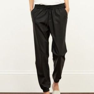 Abercrombie & Fitch Vegan Leather Black Joggers